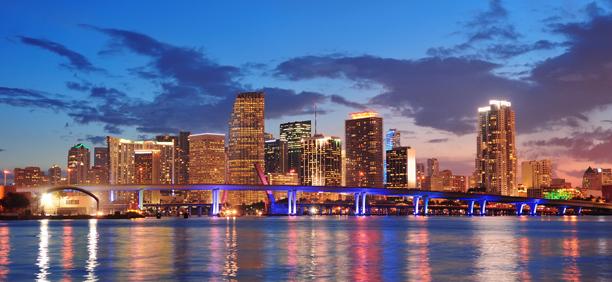 夜景がきれいなマイアミ